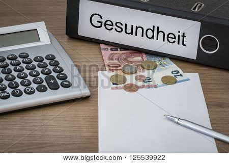 Gesundheit Written On A Binder