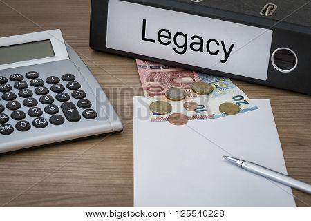 Legacy Written On A Binder