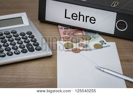 Lehre Written On A Binder