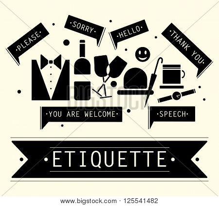 The elements of speech etiquette. Phrases in etiquette.