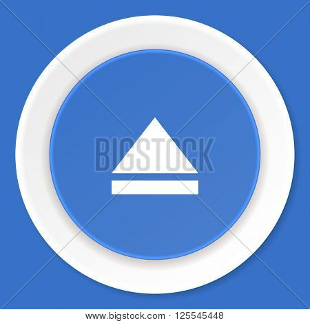 eject blue flat design modern web icon