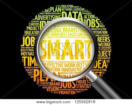 Smart Word Cloud With Magnifying Glass