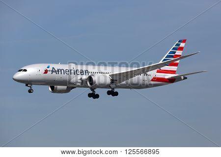 American Airlines Boeing 787 Dreamliner Airplane Los Angeles International Airport