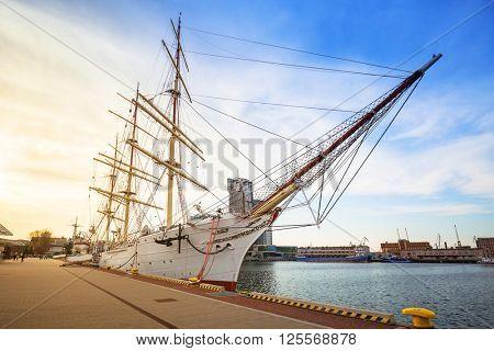 Shipyard in Gdynia city at Baltic Sea, Poland poster