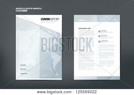 Modern Cover Annual Report Brochure - business Brochure - Catalog Cover, Catalog design, Cover design layout. A4. Cover front page and back page.