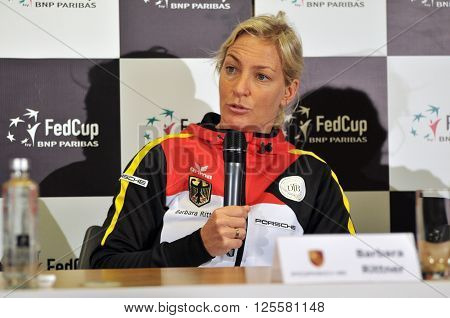 Tennis Captain Of Germany, Barbara Rittner During A Press Conference