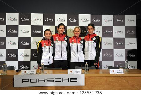 National Women Tennis Team Of Germany During A Press Conference