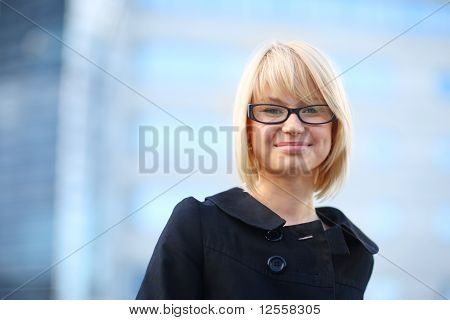 Blond Businesswoman Smiling