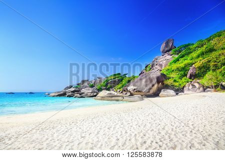 Similan rock island