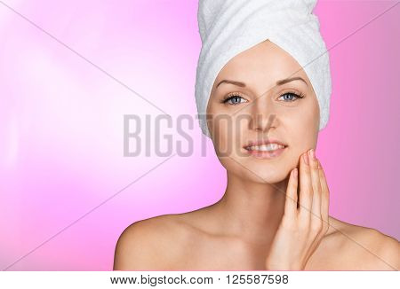 poster of Microdermabrasion Peel Beauty Treatment Human Face Women Smooth Wrinkled