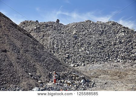Construction Site Gravel Fill Various Grades And Sizes
