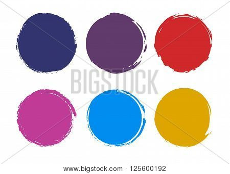 Vector stock collection of colorful abstract blank round mark