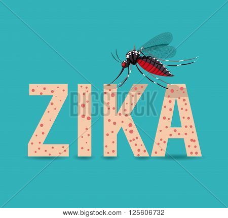 the Zika virus design, vector illustration eps10 graphic