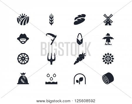 Agriculture and farm icons. Lyra series