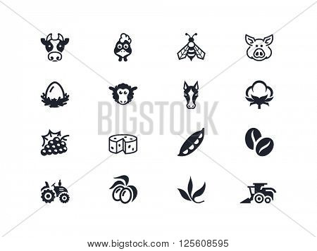 Agriculture and farming icons. Lyra series