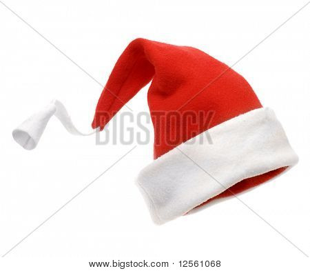 Christmas hat isolated over white