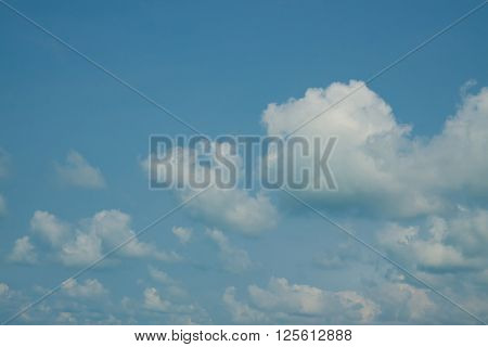 The background of blue sky with white cloud