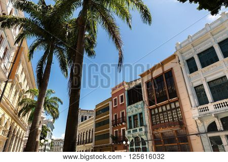Old Town in Recife, located in Pernambuco State, Brazil