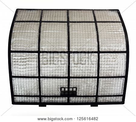 Clogged AirCon filter with a visible thick layer of dust ** Note: Soft Focus at 100%, best at smaller sizes
