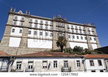 View of the Monastery of Santa Clara built in neoclassical style in 1777 in Vila do Conde Portugal