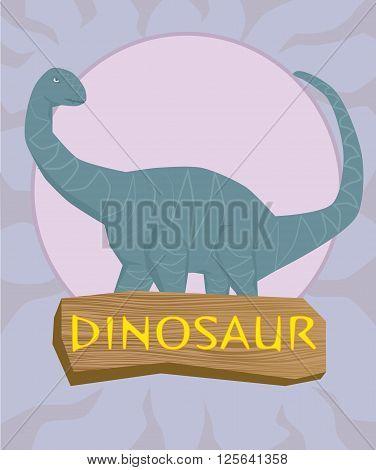 Dinosaur brontosaurus silhouette against the sun .