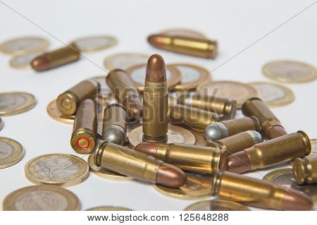Ammunition and valid coins. Sales of weapons and ammunition. Illegal trade of ammunition