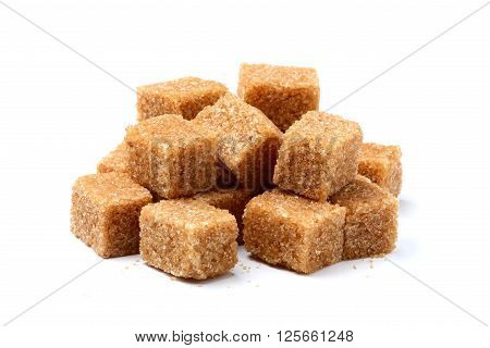 Cane sugar brown isolated on a white background.