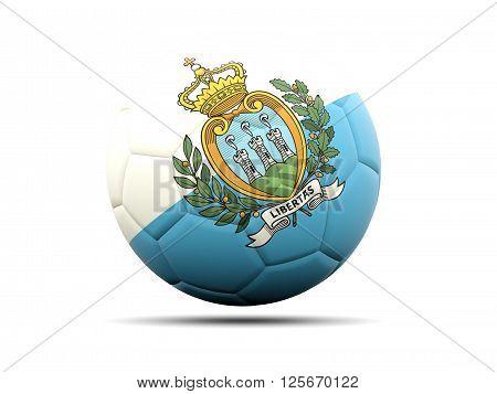 Football With Flag Of San Marino