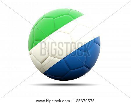 Football With Flag Of Sierra Leone