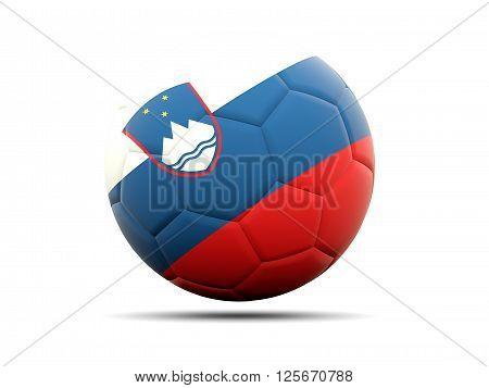 Football With Flag Of Slovenia