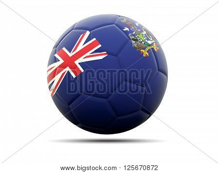 Football With Flag Of South Georgia And The South Sandwich Islands