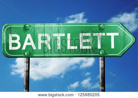 bartlett road sign on a blue sky background