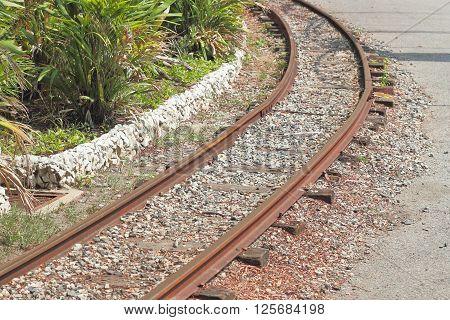 Railroad station, railroad tracks and a cargo platform for trains