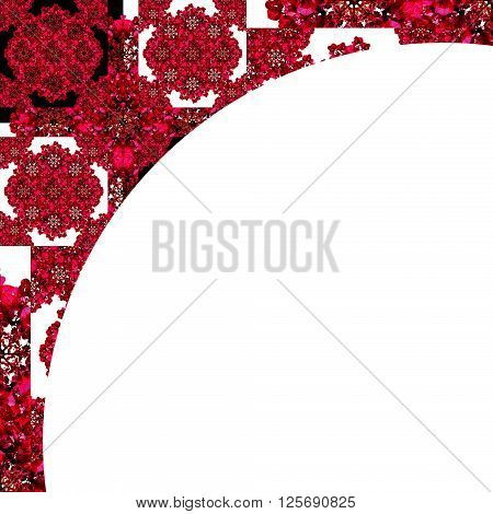 White Background With Decorated Round Border