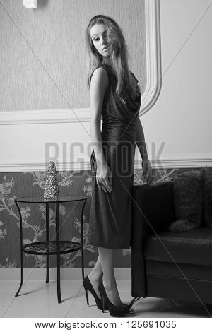 Sophisticated Elegant Woman In Black And White