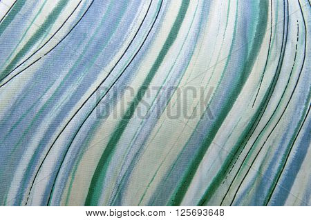 Striped pattern fabric background texture close up