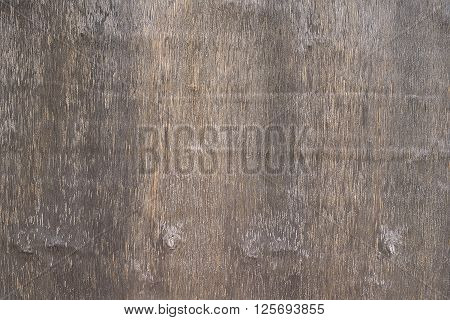 Old brown wooden desk background texture close up