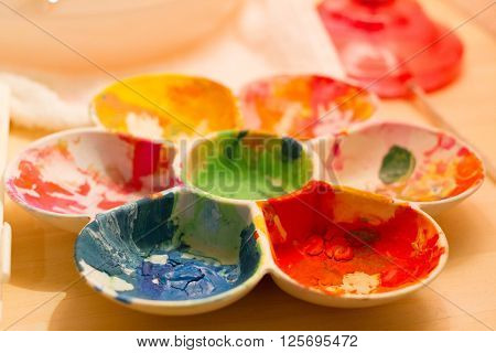 happy color paint color a table .