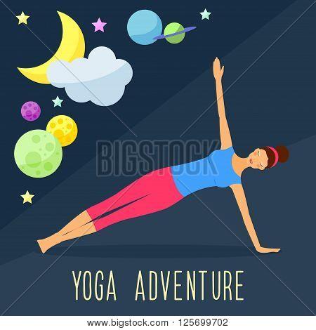 Yoga Theme. Trendy Flat Style.