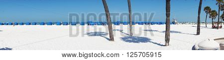 White sands at Clearwater Beach winter faction spoit