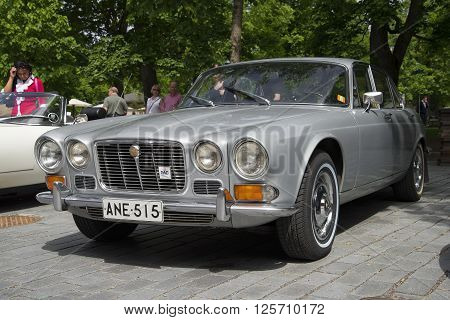 TURKU, FINLAND - JUNE 13, 2015: Jaguar 420 ( Daimler Sovereign) 1966-1969 model years at the meeting of holders of cars