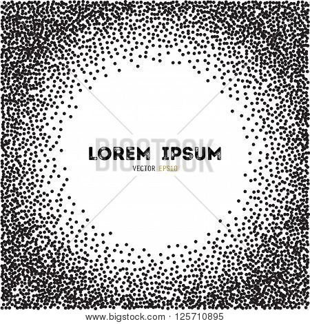 Vector template for your text. Explosion of confetti circles.Template for your design, invitation, logos, web, card,