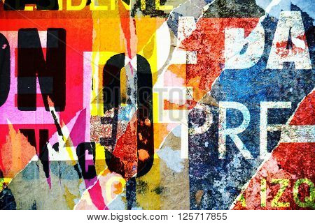 Background Collage Or Typography Design Wallpaper Texture