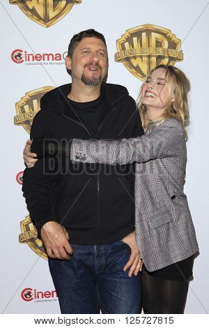 LAS VEGAS - APR 12: Margot Robbie, David Ayer at the Warner Bros. Pictures Presentation during CinemaCon at Caesars Palace on April 12, 2016 in Las Vegas, Nevada