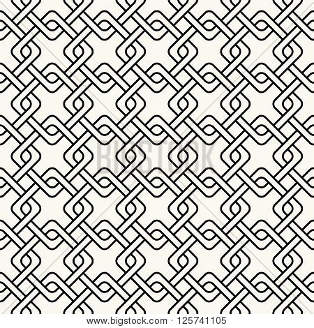 Abstract Ornamental Stylish Outlined Geometric Background With Structure Of Repeating Diagonal Squar