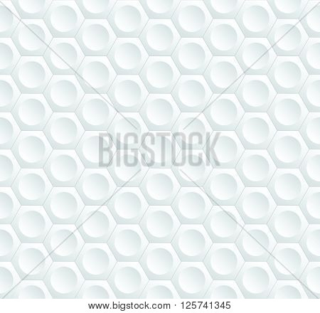 Modern Stylish Geometric Background With Volumetric Structure Of Repeating Hexagons And Circles - Ve