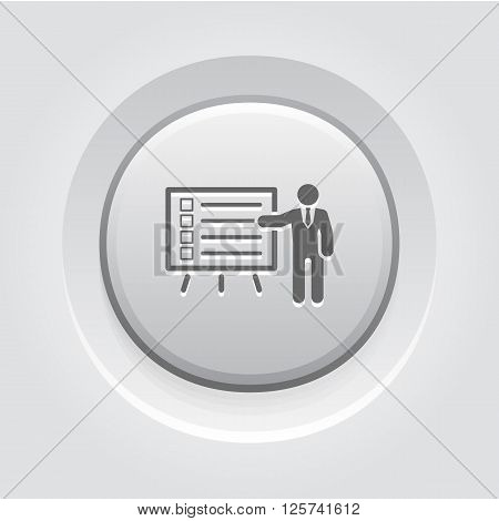 Problem Statements Icon. Business Concept. Grey Button Design