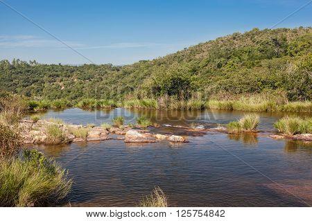 Natural Dam at Claro Creek - Delfinópolis - Minas Gerais - Brazil