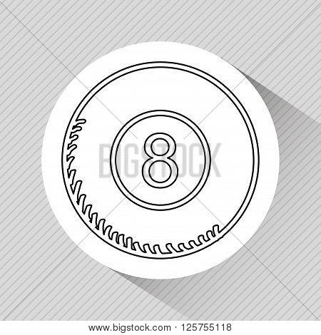 eight ball design, vector illustration eps10 graphic