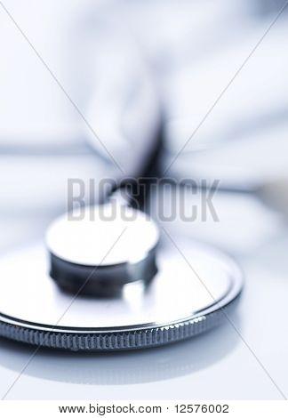 Stethoscope closeup.Medical Equipment.